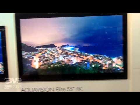 ISE 2015: Aquavision Introduces Frameless Black Glass Television