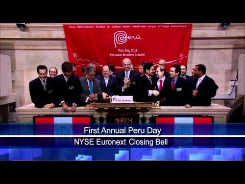 11 March 2011 NYSE Euronext Celebrates First Annual Peru Day rang NYSE Closing Bell
