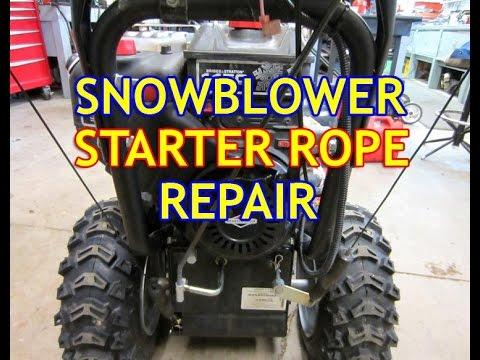 Snowblower Starter Rope Repair With Briggs & Stratton Engine