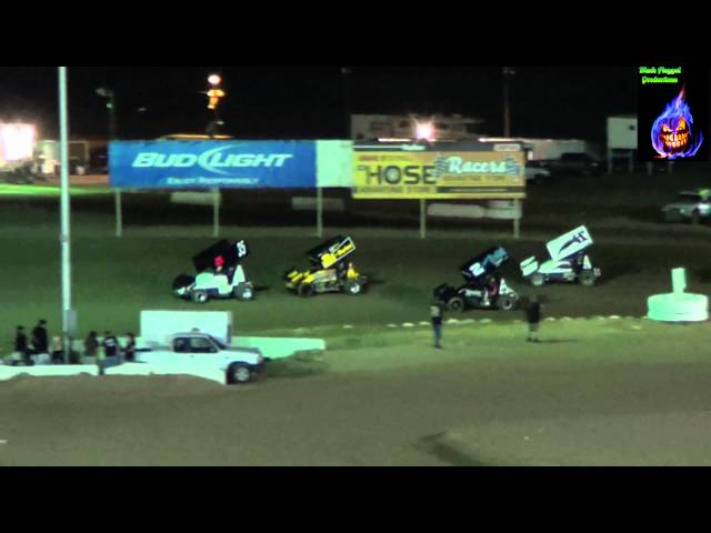 Canyon Speedway Park&#039;s ASCS Wing Sprint Car Main (Oct 6th 2012)