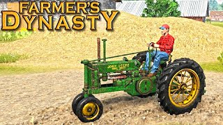 FARMER'S DYNASTY FIRST GAMEPLAY! (FISHING, FARMING, CONSTRUCTION & MORE)