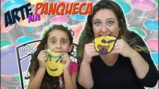 Desafio Arte na Panqueca - Panqueca de Emoji!! PANCAKE ART CHALLENGE