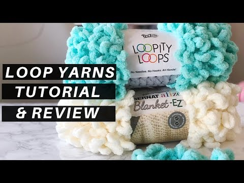 How to Use Loop Yarns [A Tutorial and Review + FREE Pattern. the Knitflix Throw]