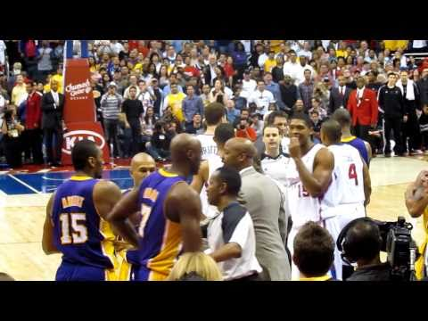 (HD)Lakers vs. Clippers Fight- 4 players ejected. 1/16/2011.