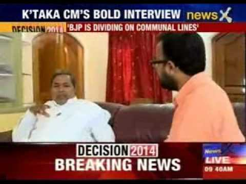 Karnataka CM Siddaramaiah bold interview, calls Narendra Modi a man killer