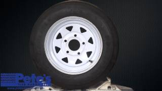 Carlisle USA Trail Trailer Tire and Wheel 4.80x12 (LRC) (5 Lug)