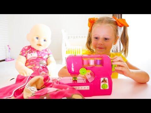 Настя и Кукла Пупсик которая много ела и стала гигантом / Nastya and giant funny baby doll