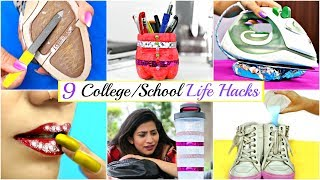 9 Amazing LIFE HACKS Every College/School Girls Must Know | Anaysa