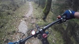 Walchensee-descent from Glaswandscharte with crash