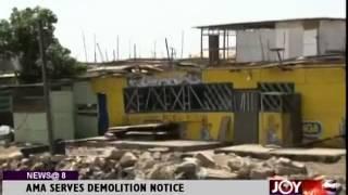 AMA Serves Demolition Notice - Joy News @ 8 (19-9-14)