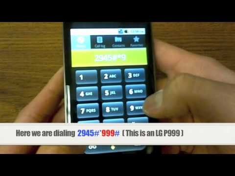 Unlock LG   How to Unlock any LG Phone by Unlock Code Instructions. Tutorial + Guide