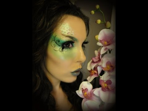 Green Garden Fairy Makeup Look (Halloween)