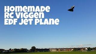 Homemade Flight Test RC Viggen 10 blade EDF jet plane