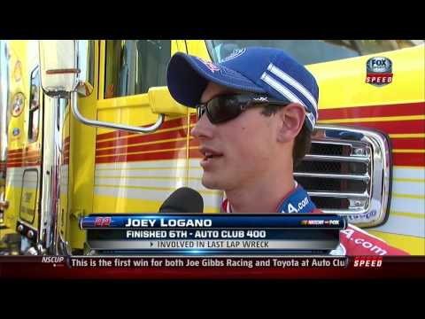 Tony Stewart angry with Joey Logano post race interviews.