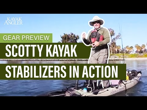 Scotty Kayak Stabilizers in Action
