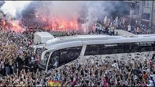 Recibimiento autobus del REAL MADRID - Real Madrid vs Juventus 13 05 2015