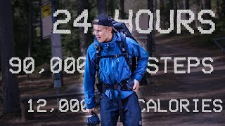We tried WALKING 24 HOURS straight😵 LONGEST HIKING TRAIL IN HELSINKI