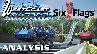 West Coast Racers Analysis Six Flags Magic Mountain 2019 Multi-Launch Coaster