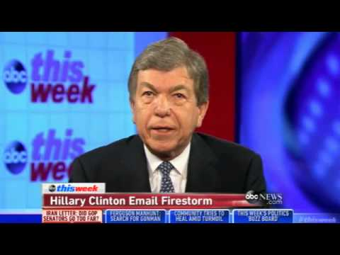 Sen. Roy Blunt: Email Story Reminds Us of What It's Like with the Clintons