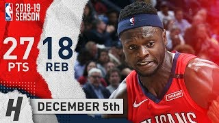 Julius Randle Full Highlights Pelicans vs Mavericks 2018.12.05 - 27 Points, 18 Reb
