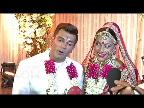 Karan Singh Grover and Bipasha Basu Thank FANS At Wedding
