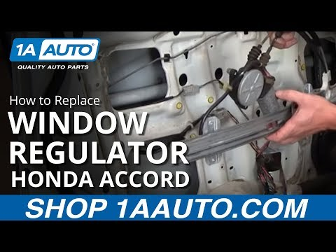 How To Install Replace Front Power Window Motor Regulator Honda Accord Front 1AAuto.com