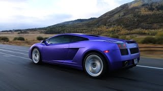 We wrapped my Lamborghini Satin Chrome Purple