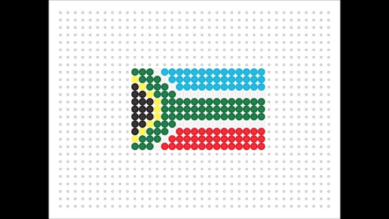 Hama Bead South African Flag Flag Series 15 Youtube