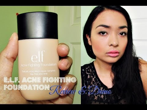♡ e.l.f. Acne Fighting Foundation Review & Demo ♡