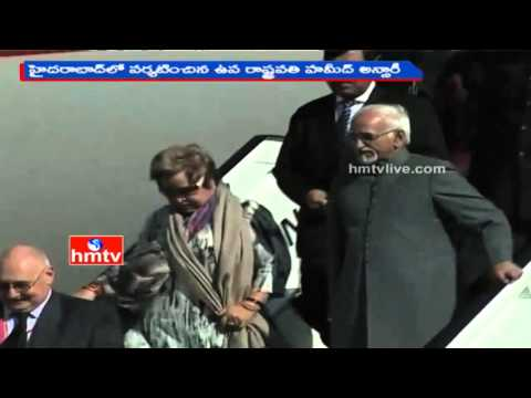 Vice-President Hamid Ansari Visits Hyderabad | HMTV