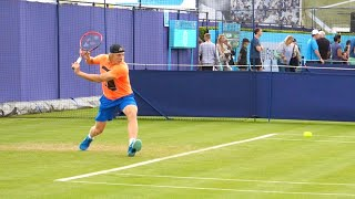 Denis Shapovalov Backhand Slow Motion - ATP Perfect One Handed Backhand Technique Tennis