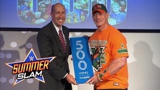 John Cena is honored by Make-A-Wish for granting 500 wishes
