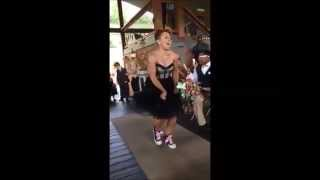 Jacia Wedding - Best Wedding Entrance - Watermelon Crawl Line Dance to Happy