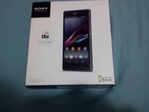 (PT-BR) Unboxing Sony Xperia Z1 4G - Primeira Mão