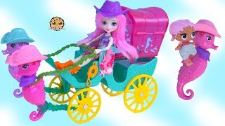 Riding A Sea Horse ! LOL Surprise + Seahorse Water Wagon Toys