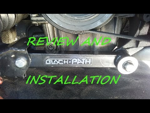How to replace engine mounts with Black path raving motor mounts.