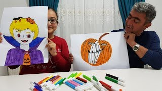 PAINT YOURSELF CHALLENGE !!! CADILAR BAYRAMI ( HALLOWEEN )
