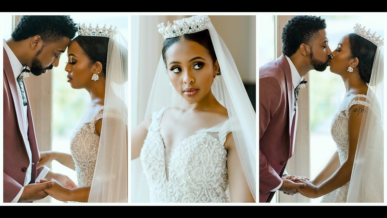EMOTIONAL ETHIOPIAN + AMERICAN WEDDING VIDEO ( የሰርጋችን ቪድዮ) PART 1