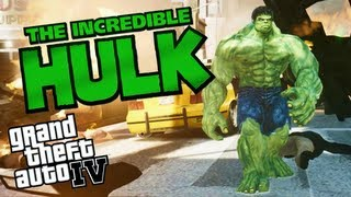 THE INCREDIBLE HULK GTA IV MOD - Script for Grand theft Auto 4 (Movie Into Video Game)
