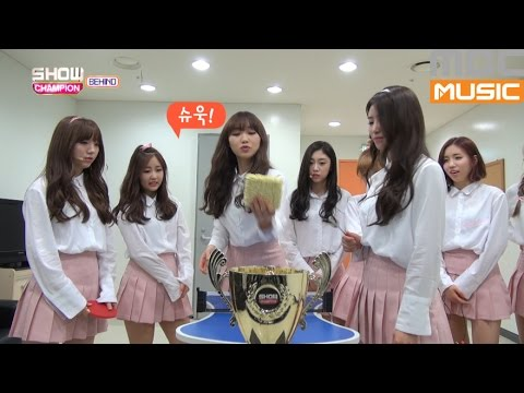 (Showchampion behind EP.5) LOVELYZ Ping-Pong table tennis
