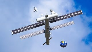 WORLD`S ONLY FLYING MODEL ISS INTERNATIONAL SPACE STATION IN DETAIL AND FLIGHT DEMO!!