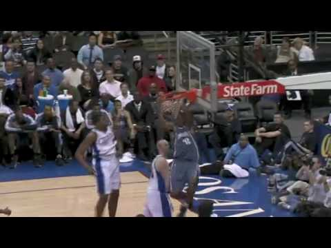 Stephen Jackson pick and roll to Theo Ratliff Dunks vs Los Angeles Clippers