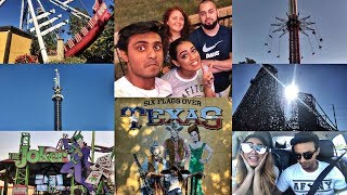 VLOG | SIX FLAGS OVER TEXAS | One of the best amusement parks in USA | Halloween Special 🎃