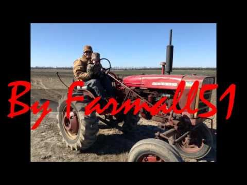63 and 77 IH Farmall 140 Tractors Plowing in Tarboro N.C