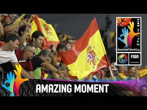 Spain v Egypt - Amazing Moment - 2014 FIBA Basketball World Cup