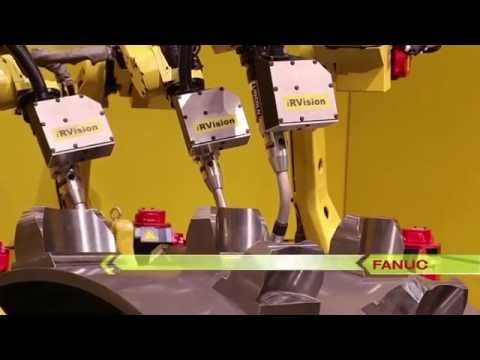 FANUC Robots Arc Weld A Large Compactor Drum Using Coordinated Welding