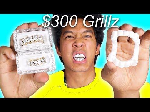 $300 Halloween Fang Grillz Vs. 1$ Grillz