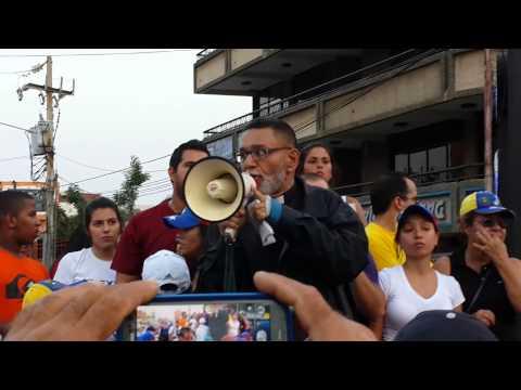 Padre Palmar en Maracaibo en la protesta 13f