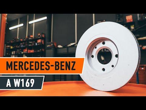 Wie MERCEDES-BENZ A W169 Bremsscheiben vorne und Bremsbeläge wechseln TUTORIAL | AUTODOC