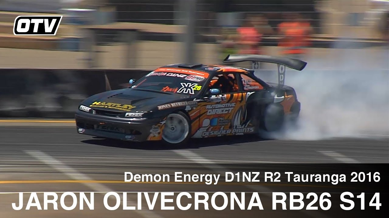 Jaron Olivecrona RB26DET S14 Silvia - D1NZ Drifting R2 Tauranga 2016